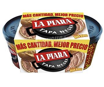 La Piara Tapa Negra Paté de hígado de cerdo  Pack 2 u x 225 g