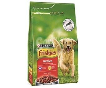 Friskies Purina Comida Seca para Perro Adulto (mezcla de croquetas de diferentes formas y sabores). Saco de 3 Kilogramos