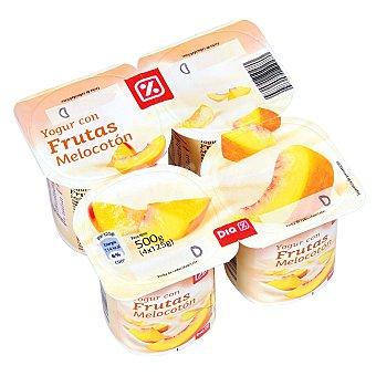 DIA Yogur con melocotón Pack 4 x 125 gr
