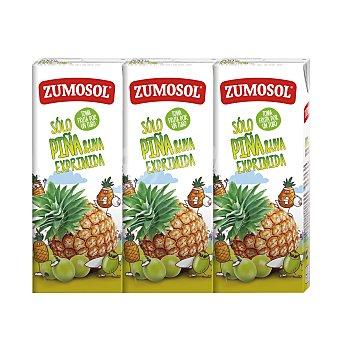 Zumosol Zumo de piña y uva exprimida pack 3 unidades 200 ml Pack 3 unidades 200 ml