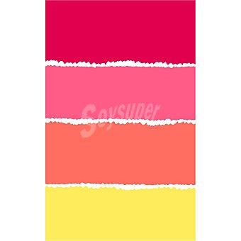CASACTUAL Lucia Toalla de playa con 4 franjas amarilla, naranja, rosa y roja