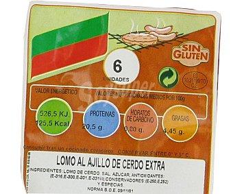 CAMPOGRIL Lomo al ajillo de cerdo adobado extra sin gluten 300 Gramos
