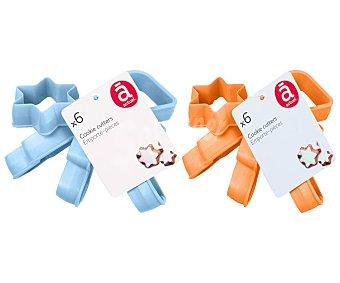 Actuel Conjunto de 6 cortadores de plástico para masas con diferentes formas, ACTUEL.