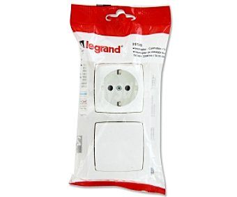 LEGRAND Interruptor, conmutador, toma 2P+T 1 Unidad