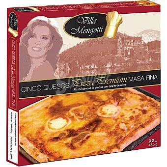 VILLA MENGOTTI Premium Pizza cinco quesos de masa fina Estuche 480 g