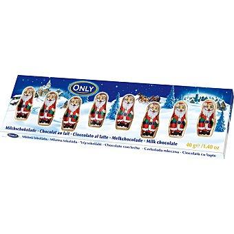 ONLY Papa Noel  chocolatinas envase 40 g pack 8