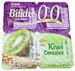 Yogur bifidus desnatado fibras trozos cereales y kiwi 4 unidades de 125 g (500 g) Hacendado