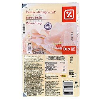 DIA Pechuga pollo finas lonchas envase 2x100 gr