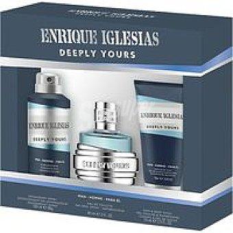 E. IGLESIAS Colonia para hombre-desodorante-gel Pack 1 unid