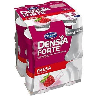 Densia Danone Yogur líquido con calcio y vitamina D con sabor a fresa Forte 4 unidades de 100 g