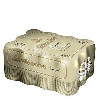 Alhambra Cerveza rubia nacional especial (lata con tapa protectora) Pack 12x33 cl