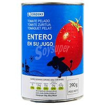 Eroski Tomate natural entero pelado Lata 390 g