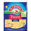 Queso rallado 3 quesos Bolsa 130 g El Caserío