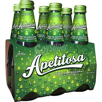 Fina Apetitosa refresco de 100% zumo de manzana con burbujas Pack 6 botellas 27,50 cl