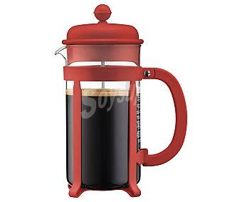 Bodum Tetera de émbolo para 8 tazas, color rojo, 1 itro, Java bodum