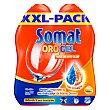 Gel lavavajillas con vinagre Pack 2x33 lavados Somat