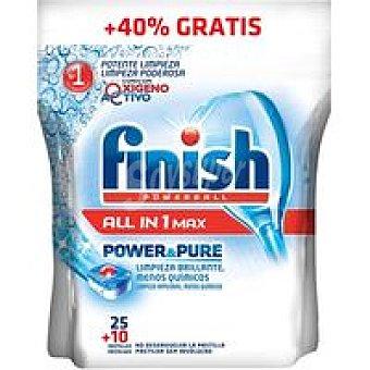 Finish Lavavajillas Maquina Pastilla Todo N1 P&P 25+10 Dosis