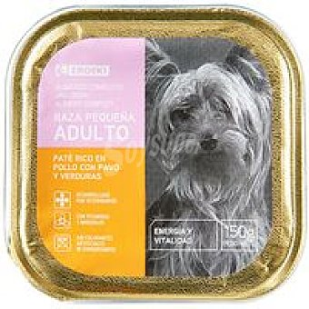 Eroski Paté de pollo para perros de razas pequeñas Lata 150 g