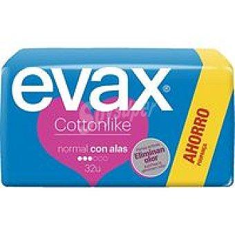 Evax Compresa normal con alas Caja 32 unid. + Salvaslip