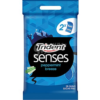 TRIDENT SENSES Mystery Mint Chicle sin azúcar Pack 2 envases 14 unidades