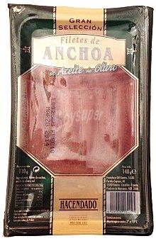Hacendado Anchoa filete aceite oliva Paquete 140 g escurrido 110 g