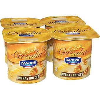 Danone Yogur con copos de avena y nueces Cerealia Pack 4 unidades 125 g