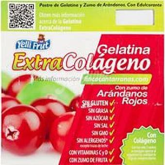 Yelli Frut Gelatina de arándanos colágeno Pack 4x100 g