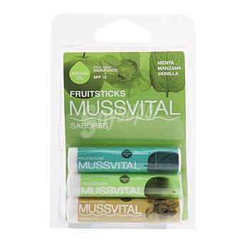 Mussvital Fruitstick menta/manzana/vainilla 3 ud