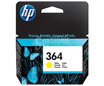 HP Cartucho de Tinta 364 Amarillo HP Compatible con impresoras: Photosmar T5510 / 5155 / 5520 / 6510 / 6520 / 7510 / 7520 / B8550 / C5324 / C5380 / C6324 / C6380 / D5460 / B010a / B109a/d/f/n / B110a/c/e / B209a/c / B210a/c / C309a/n/g / C310a / C410b / C510a /3070A / 3520 / 4620 / 4622