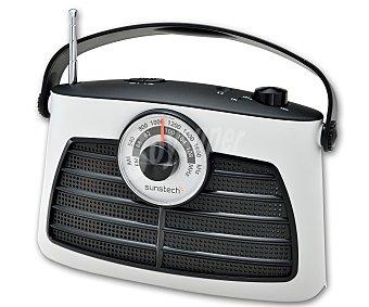 SUNSTECH RPS660 Radio de sobremesa analógica, color blanco