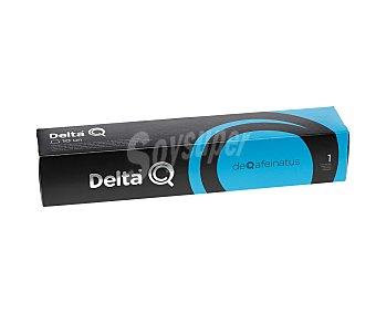 Delta Q Café en cápsulas deqafeinatus descafeinado, Intensidad 1 10 uds. x 5,5 g