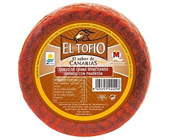El Tofio Queso semicurado con pimentón 350 gramos aproximados