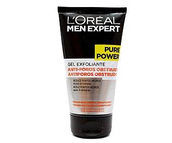 L'Oréal Men Expert Gel exfoliante anti-poros obstruidos Pure Power Tubo 150 ml