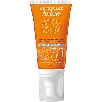 Avène Emulsión protectora solar SPF 50+ toque seco resistente al agua pieles mixtas y grasas tubo 50 ml Tubo 50 ml