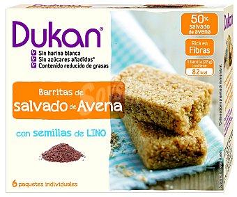 DUKAN Barritas de salvado de avena con semillas de lino 150 gramos