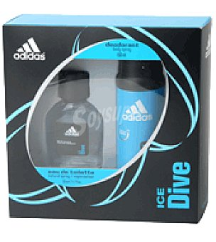 Adidas Colonia masculina pack ice dive 50ml spray + Body spray 150 ml 1 ud
