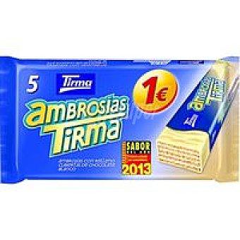 Tirma Ambrosias de chocolate blanco Caja 129 g