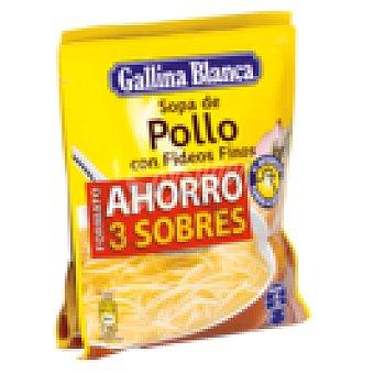 Gallina Blanca Sopa de pollo con fideos finos Pack 3 sobres 213 GRS