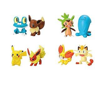 BIZAK Pack de lucha con 2 figuras Pokemon 1 unidad
