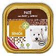 Comida perro pate buey arroz senior razas pequeñas Tarrina 150 g Bobby