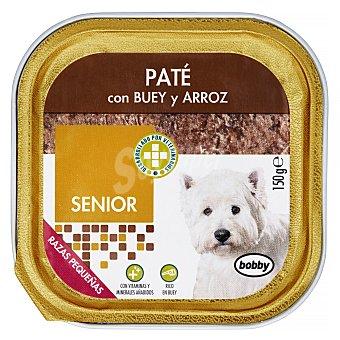 Bobby Comida perro pate buey arroz senior razas pequeñas Tarrina 150 g