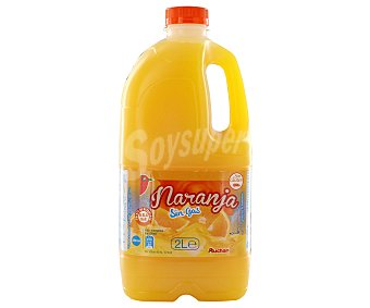 Auchan Bebida refrescante de zumo de naranja 2 litros