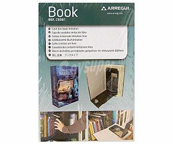 ARREGUI Caja de Caudales con Forma de Libro. Apertura y Cierre Mediante Llave, 144x222 Milímetros 1 Unidad