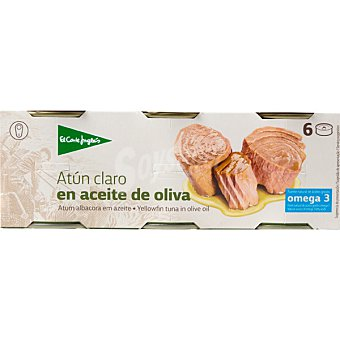 El Corte Inglés Atun claro en aceite de oliva pack 6 latas x 60 g neto escurrido