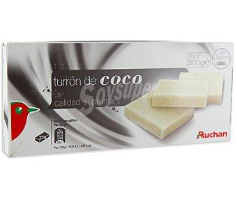 Auchan Turron de coco 300 gramos