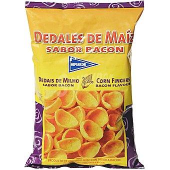 Hipercor snack dedales de maíz sabor bacon  bolsa 120 g