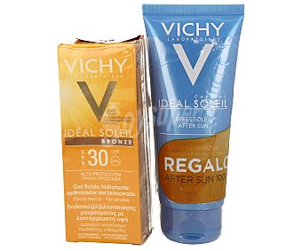 Vichy Gel bronceador con factor de protección 30 + aftersun de regalo 100 ml