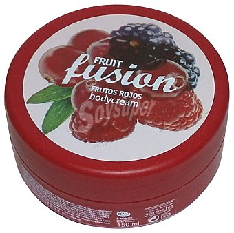 FRUIT FUSION Crema corporal frutos rojos Tarro 150 cc