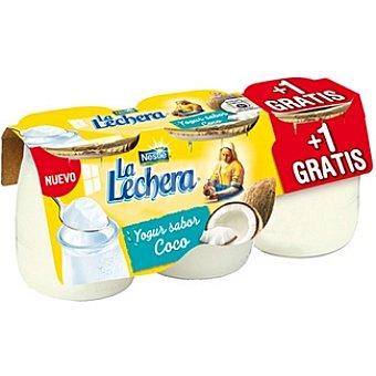 La Lechera Nestlé Yogur sabor coco pack 2 unidades 125 g + 1 gratis Pack 2 unidades 125 g