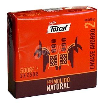 Toscaf Café molido natural duplo Pack 2x250 g